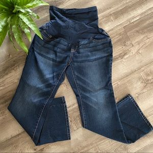 Indigo Blue flair maternity denim jeans